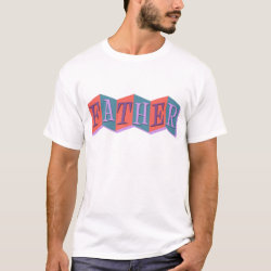 Men's Basic T-Shirt with Marquee Father design