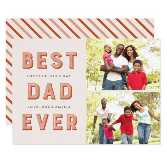 Marquee Father's Day 2-Photo Card - Rust