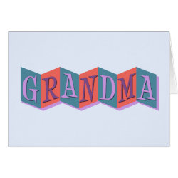 Greeting Card with Marquee Grandma design