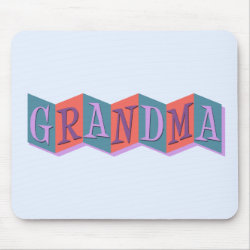 Mousepad with Marquee Grandma design