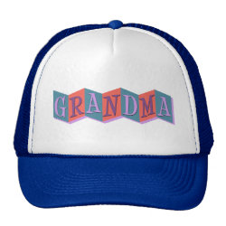 Trucker Hat with Marquee Grandma design