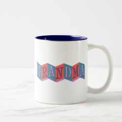 Two-Tone Mug with Marquee Grandma design