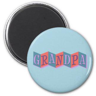 Marquee Grandpa 2 Inch Round Magnet