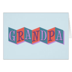 Marquee Grandpa Greeting Card