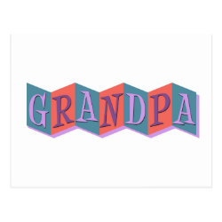 Postcard with Marquee Grandpa design