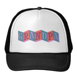 Trucker Hat with Marquee Grandpa design