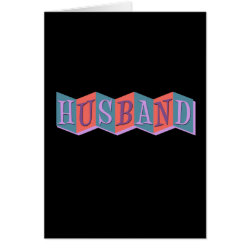 Greeting Card with Marquee Husband design