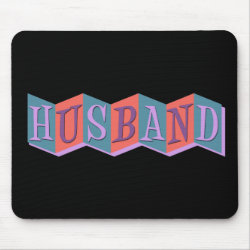 Mousepad with Marquee Husband design