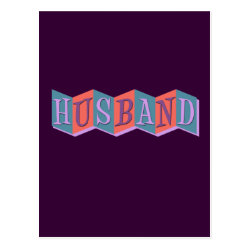Postcard with Marquee Husband design