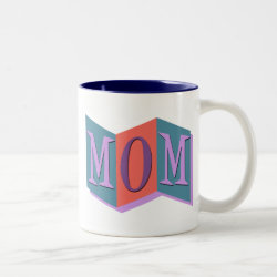 Two-Tone Mug with Marquee Mom design
