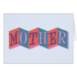 Greeting Card with Marquee Mother design