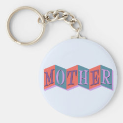 Basic Button Keychain with Marquee Mother design