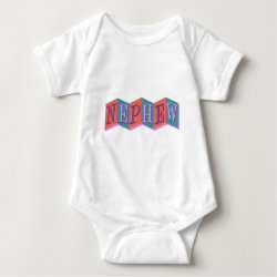 Baby Jersey Bodysuit with Marquee Nephew design