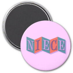 Round Magnet with Marquee Niece design