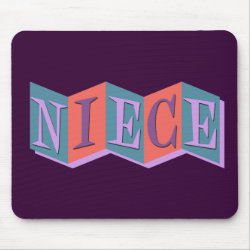 Mousepad with Marquee Niece design
