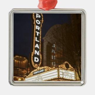 Marquee of Arlene Schnitzer auditorium Metal Ornament