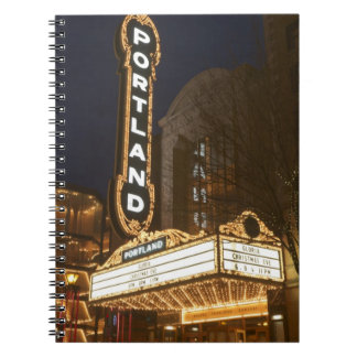 Marquee of Arlene Schnitzer auditorium Notebook