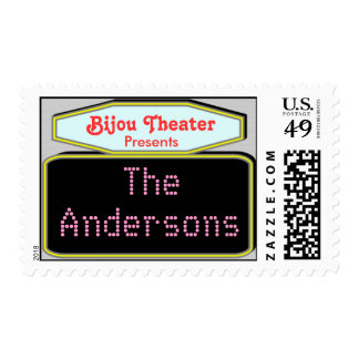 Marquee. Personalized Custom U.S. Postage Stamp.