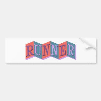 Marquee Runner Bumper Sticker