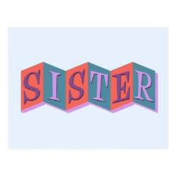 Postcard with Marquee Sister design