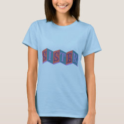 Women's Basic T-Shirt with Marquee Sister design