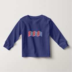 Toddler Long Sleeve T-Shirt with Marquee Sister design