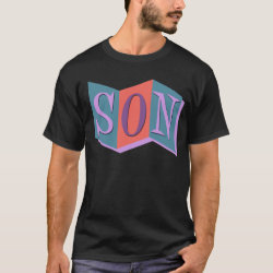 Men's Basic Dark T-Shirt with Marquee Son design