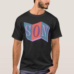Men's Basic Dark T-Shirt with Marquee Son design
