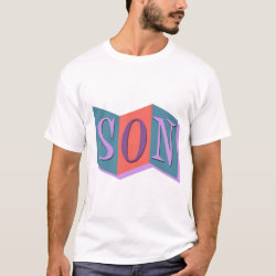 Men's Basic T-Shirt with Marquee Son design