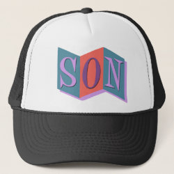 Trucker Hat with Marquee Son design