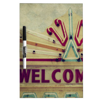 Marquee Welcome Sign Dry-Erase Board