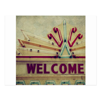 Marquee Welcome Sign Postcard