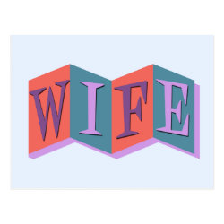 Postcard with Marquee Wife design