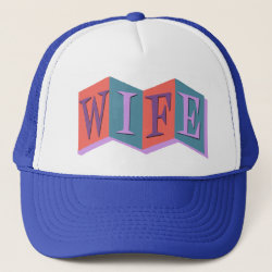 Trucker Hat with Marquee Wife design