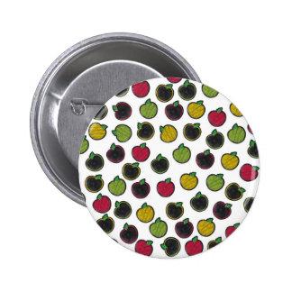 ¡Marqúelo con tiza para arriba! Manzanas - modelo Pin Redondo De 2 Pulgadas
