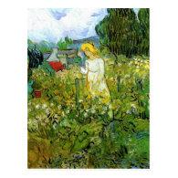 Marquerite Gachet in the Garden, Vincent van Gogh. Postcard