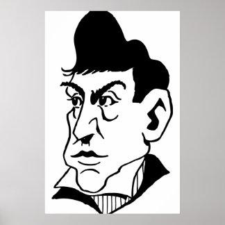 Marqués de Lafayette de la caricatura Póster