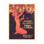 Marques Del Merito Vinos y Conac Tarjeta Postal