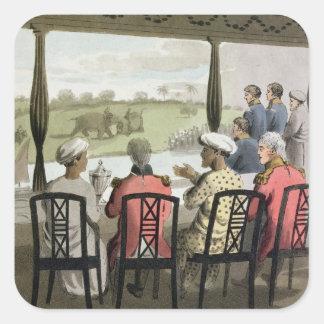 Marqués Wellesley y su habitación en el nabab de Pegatina Cuadradas Personalizadas