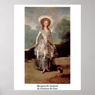 Marquesa De Sandoval By Francisco De Goya Posters