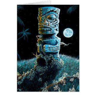 Marquesan Tiki Greeting Card