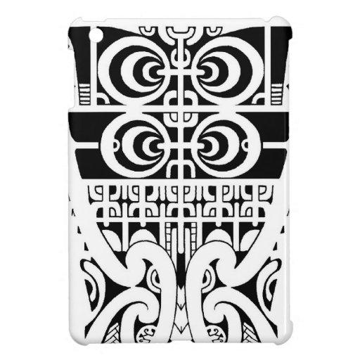 Marquesan tribal tattoo design with Maori koru Cover For The iPad Mini