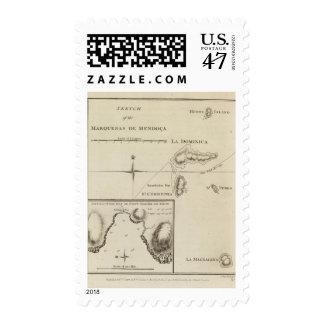 Marquesas de Mendoca, bahía de la resolución Timbres Postales