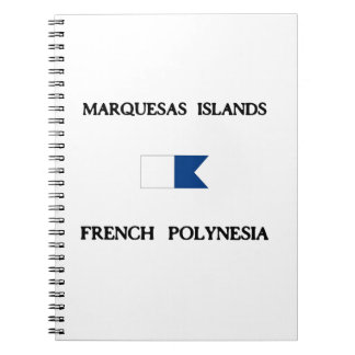 Marquesas Islands French Polynesia Spiral Notebook