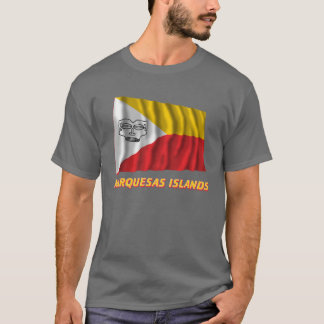 Marquesas Islands waving flag with name T-Shirt