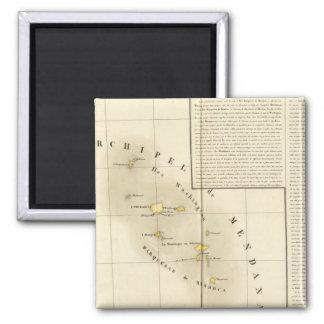 Marquesas Oceanía ningunos 34 Imán Cuadrado