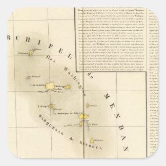Marquesas Oceanía ningunos 34 Pegatina Cuadrada