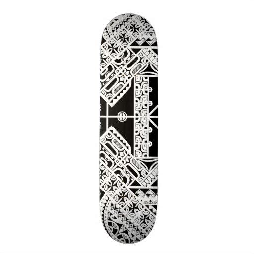 Marquesas Polynesian tribal art on skatedeck Skateboard Deck