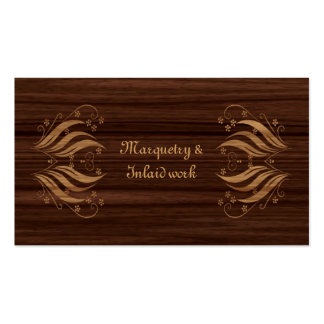 Marquetry business card