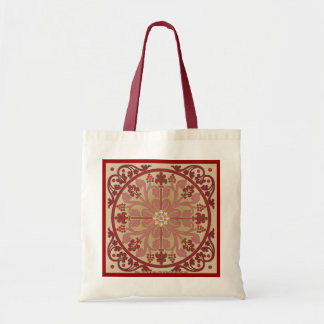 """""""Marquetry in Crimson"""" Canvas Bags"""
